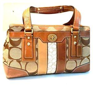 Coach leather hand bag